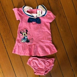 Disney Minnie Mouse Pink Sailor Outfit 6-9 month